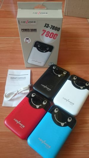 PowerBank Advance 7800mah J3-7800 – varian warna lengkap
