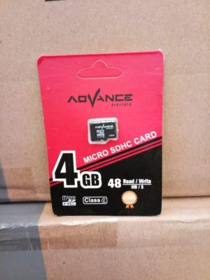 Micro SD Advance 4GB Class 6, Speed 48mb/s