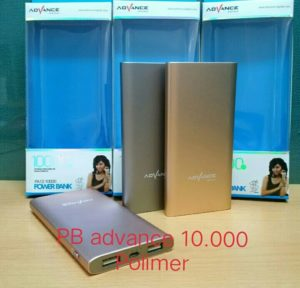 Powerbank Advance 10.000 Mah (Real Capacity 100%) Support untuk smartphone, iPad, iPhone, Camera, PSP, dll