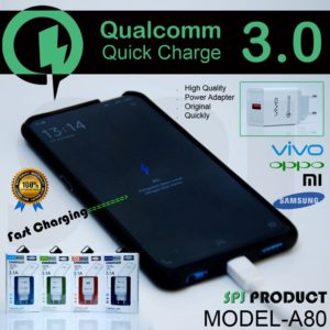 Charger Branded 3A Qualcomm (Support Fast Charging)