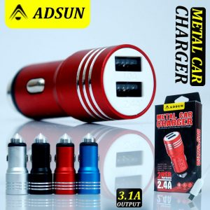 Saver Adsun 3A(Bahan Metal)+Kabel Usb