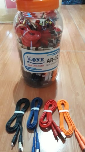 Kabel Data Y-One AR-03 (1Toples=50pcs)(Support Fast Charging)
