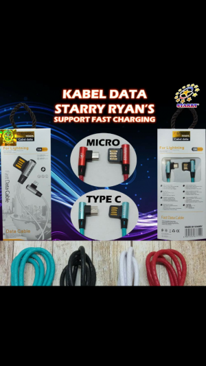 Kabel Data Starry Ryan's Micro & Type C (Support Fast Charging⚡)