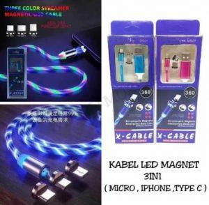 Kabel Data Magnet 3in1 LED Light