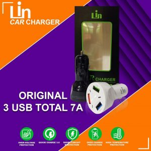 Saver Lin 7A 3USB Qualcomm (Support Fast Charging)