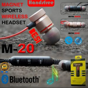 Headset Bluetooth M-20 Magnetic