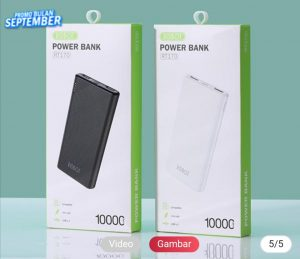 Powerbank Robot 10.000Mah RT-170(Real Capacity 3-4x Ngecas HP)