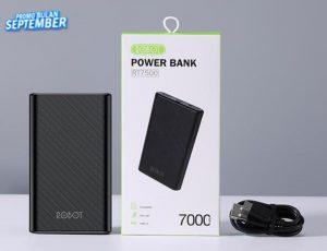 Powerbank Robot 7000Mah RT-7500(Real Capacity 2-3 Ngecas)