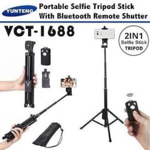 Tongsis Tripod (2in1) Yunteng VCT-1688 + Tombol Shutter Bluetooth