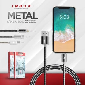 Kabel Data Inbox Full Metal Micro (Support Fast Charging)