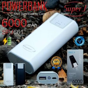 Powerbank Super J 6000mah SPJ-661 (1,5-2x cas HP)