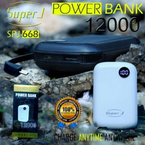 Powerbank Super J 12.000mah SPJ-668 (3-4x cas HP)