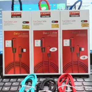 Kabel Data Starry Van's Micro 3A Bahan Nylon (Support Fast Charging)