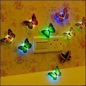Lampu Tidur Tempel Kupu-Kupu LED...