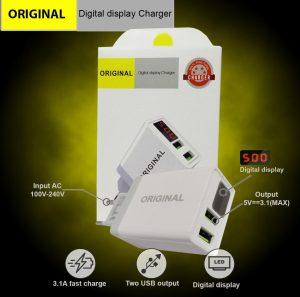 Adaptor 3A LCD Voltmeter 2USB