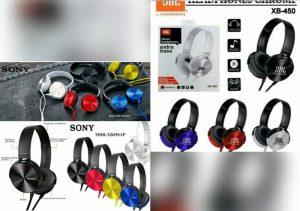 Headphone JBL & Sony XB-450 Extrabass