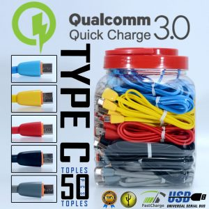 Kabel Data Macaron Type-C (Support Fast Charging) (1Toples=50pcs)